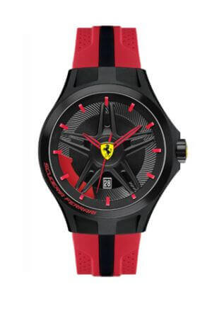 Orologio da uomo Lap TIme Black and Red di Scuderia Ferrari