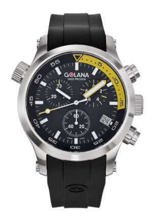Cronografo da uomo Aqua Pro Swiss Made Divers di Golana