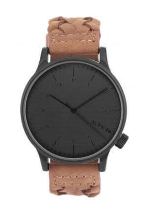 Orologio unisex Winston Woven Chestnut di Komono