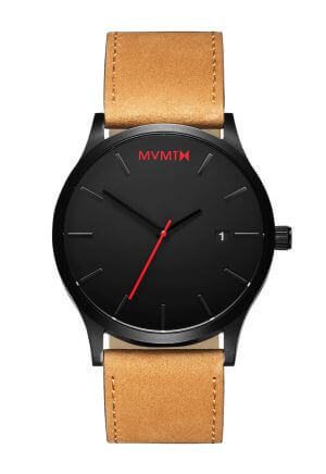Orologio da uomo Classic Black/Tan Leather di MVMT