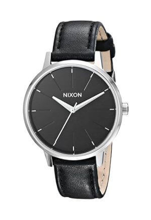 Orologio da donna Kensington Leather Gold / Black di Nixon