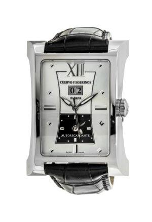 Orologio da uomo Esplendidos Dual Time Argente di Cuervo Y Sobrinos