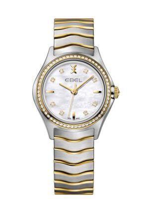 Orologio da donna Wave Lady con diamanti e oro 18k di Ebel