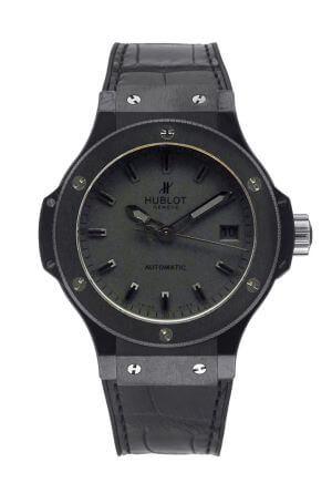Orologio da uomo Big Bang Black Dial Black Ceramic di Hublot